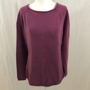 Eddie Bauer Sweater, Size Large, Burgandy